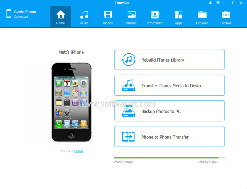 tunesgo iphone manager and data transfer