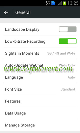 wechat general settings on android mobile