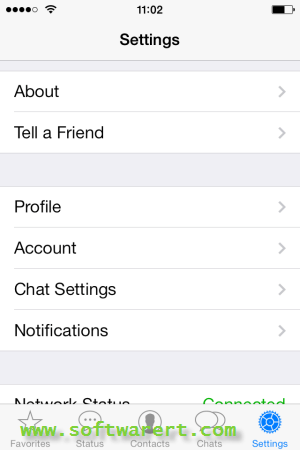 whatsapp settings on iphone