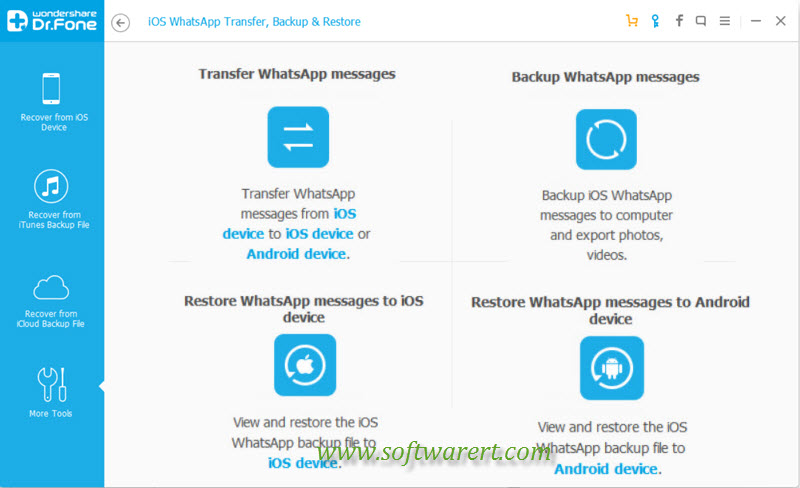 whatsapp messages transfer and backup tools with iphone recovery