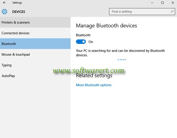windows 10 bluetooth settings manage bluetooth devices