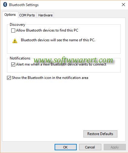windows 10 bluetooth settings