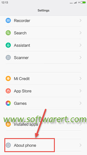 xiaomi redmi settings about phone