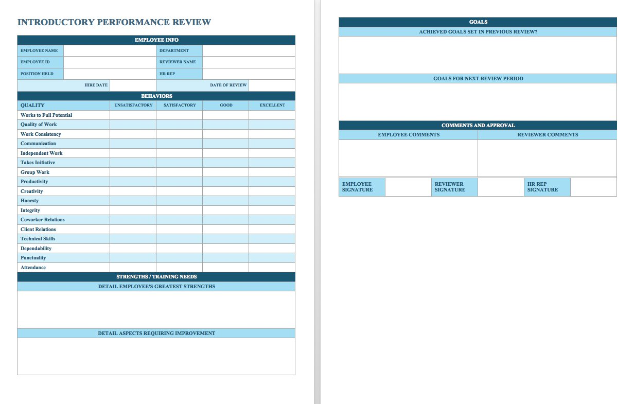 54 Performance Appraisal Form Samples Free Download