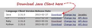 "Download ""Selenium Java Client Driver"""