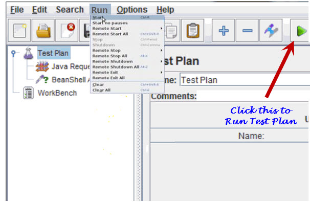 Running a JMeter Test Plan