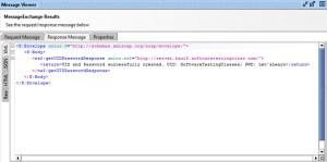 SOAP XML request message