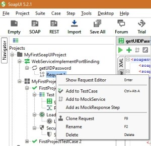 SoapUI Tips - Right Click