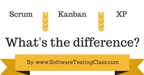 Difference between scrum kanban xp