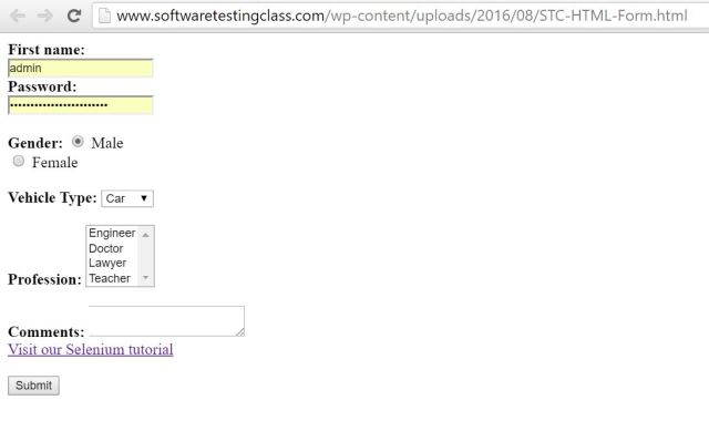 How To Access Forms In WebDriver