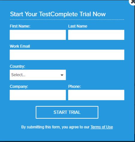 TestComplete Start Trial