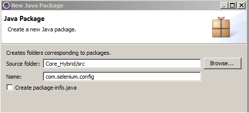 Core Hybrid Config Package