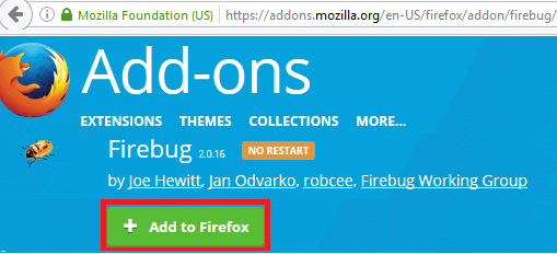 Install Fire Bug - Click on Add to Firefox