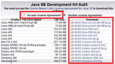 Install Java - Accept License Aggrement