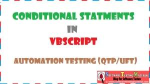 Conditional Statements VBScript | Automation Testing QTP/UFT