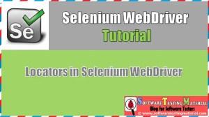Locators in Selenium WebDriver | Selenium Tutorial