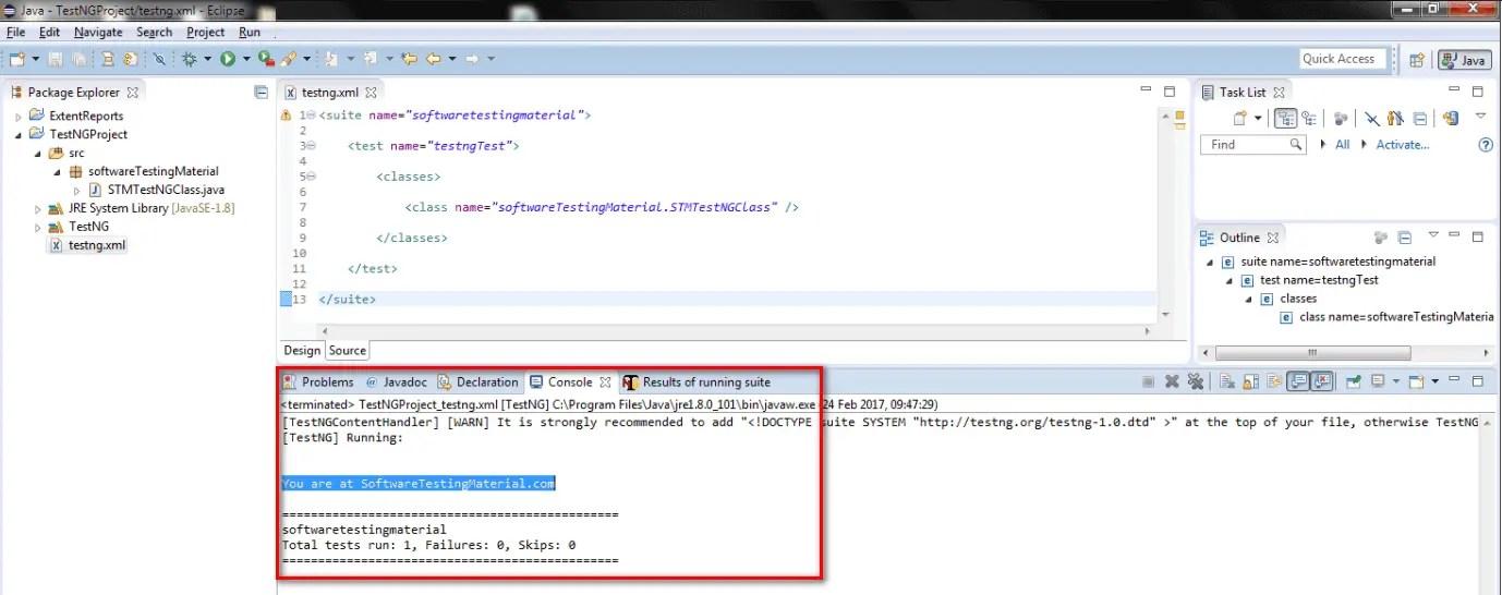 Create TestNG XML