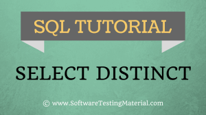 SQL SELECT DISTINCT Statement – SQL TUTORIAL | Software Testing Material