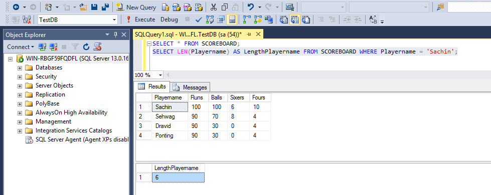 SQL String Functions Length