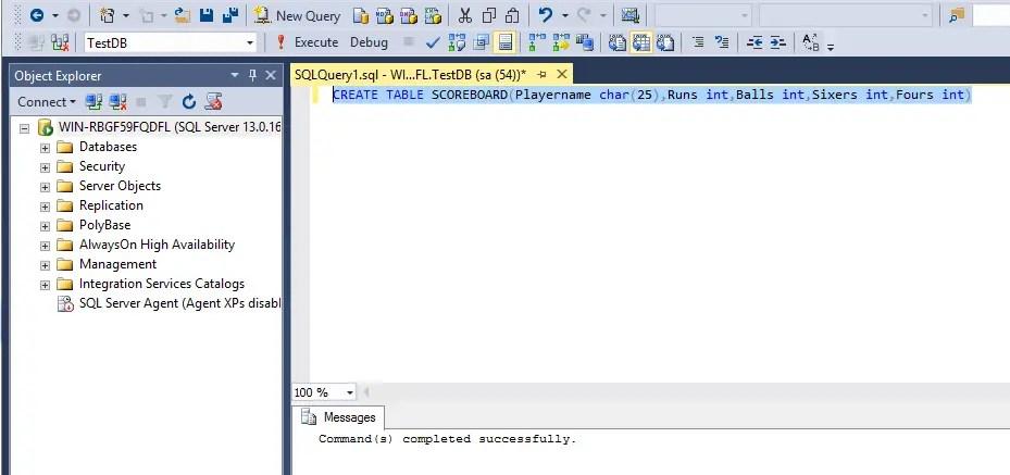 SQL Create Table
