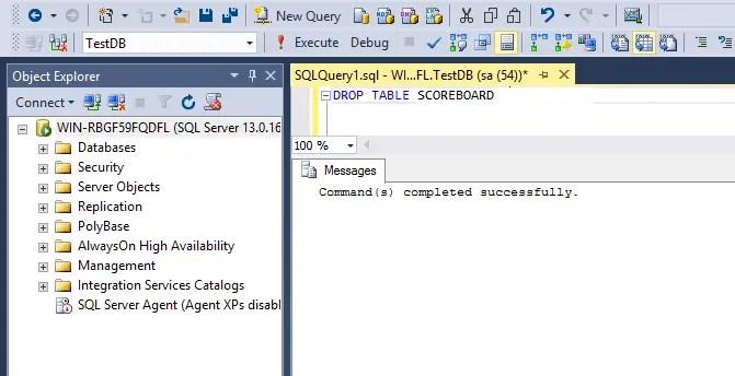 SQL Drop Query