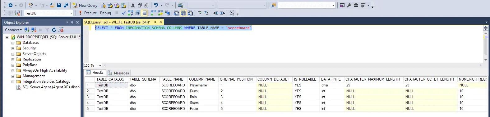 SQL Information Schema