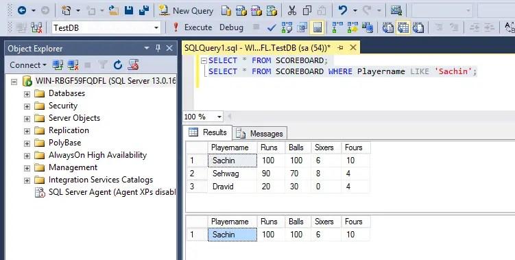 SQL Like