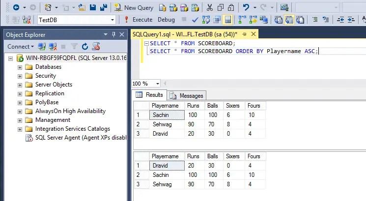 SQL Order By Ascending