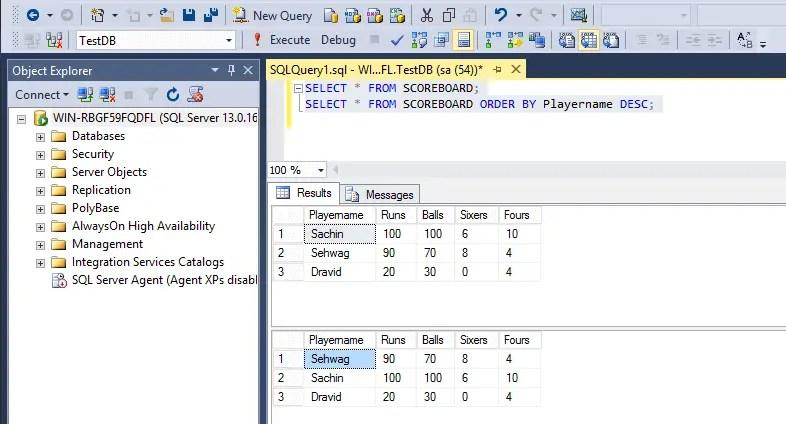 SQL Order By Descending