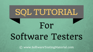 SQL Tutorial For Software Testers