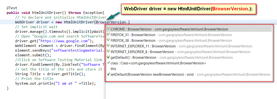 Headless Browser Testing Using HtmlUnitDriver in Selenium WebDriver
