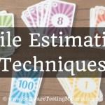 Agile Estimation Techniques | Software Testing Material