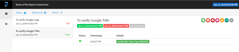 Extent Reports Version 4 Pass Test Case