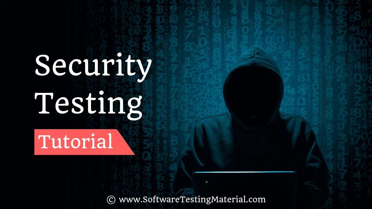Security Testing Tutorial