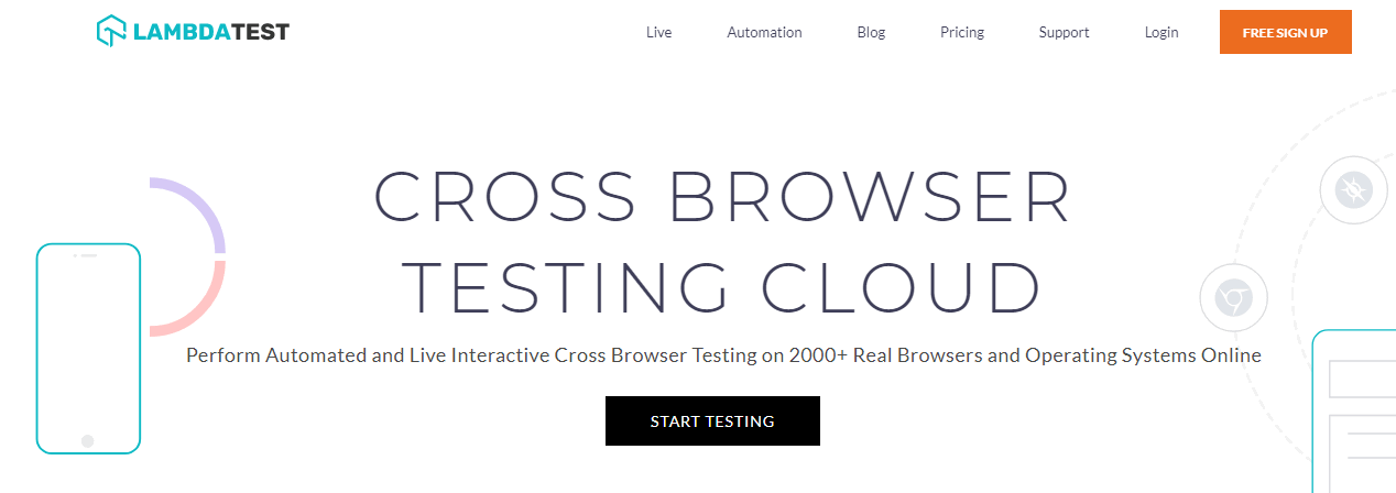 LambdaTest  Free Cross Browser Testing
