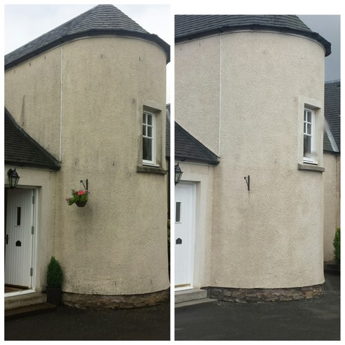 Roughcast Cleaning in Scotland.