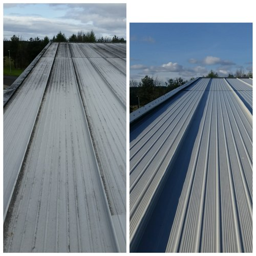 Roof Cleaning Commercial Property Starlaw Business Park Deans West Lothian