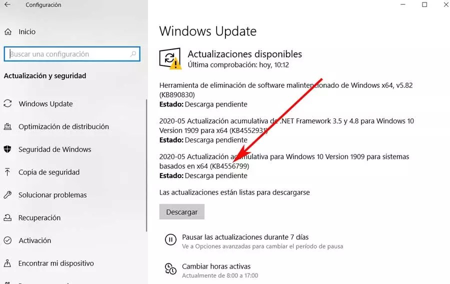 Solucionar error al instalar el parche KB4556799 en Windows
