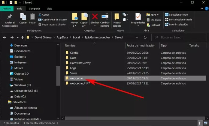 webcache folder