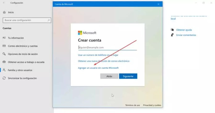 Add a user without a Microsoft account