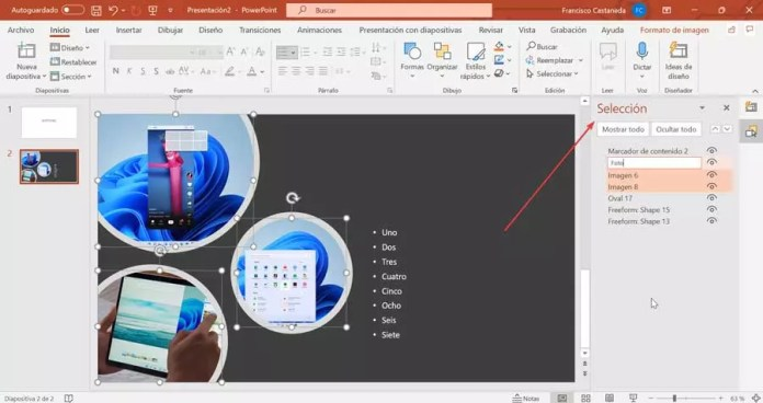 PowerPoint Selection Panel