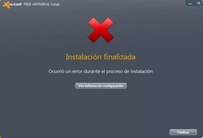 Error instalar antivirus