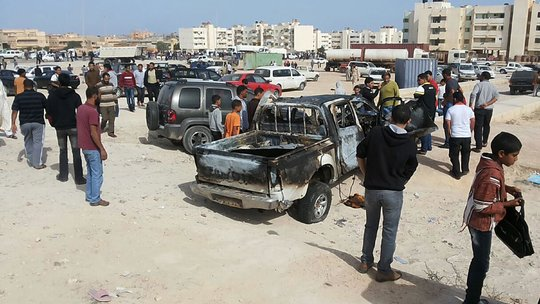 Car Bombs Explode Near Egyptian and U.A.E. Embassies in Libya