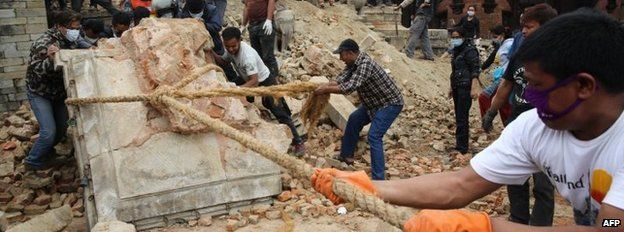 Nepal quake: Towns near epicentre 'devastated'