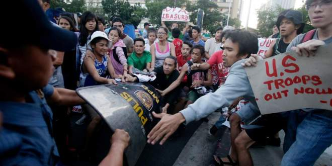Six Arrested After Protests Outside U.S. Embassy in Manila | TIME