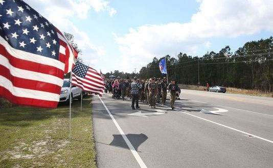 This team just walked 770 miles to honor fallen Marine Raiders. Here's how it helped them heal.