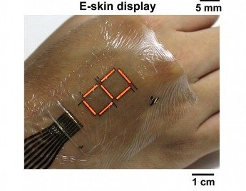 Ultrathin organic material enhances e-skin displays | KurzweilAI
