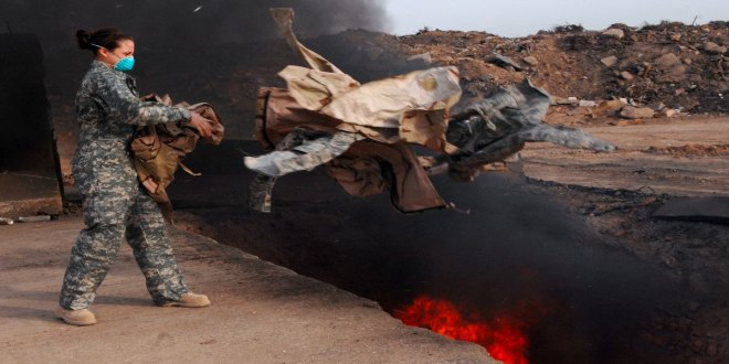 Burn pits downrange caused lung disease in service members, court rules | Military Times