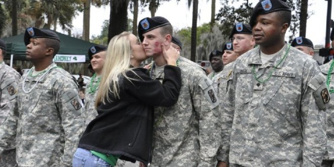 Army: No more kissing soldiers on St. Patrick's in Savannah | Army Times