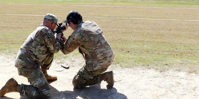 Soldier joins elite ranks of triple-distinguished shooters at Army shooting match | Army Times